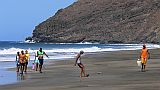 São Vicente : Palha Carga : youth at the beach : People Recreation